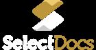 SelectDocs logotipo vertical branco